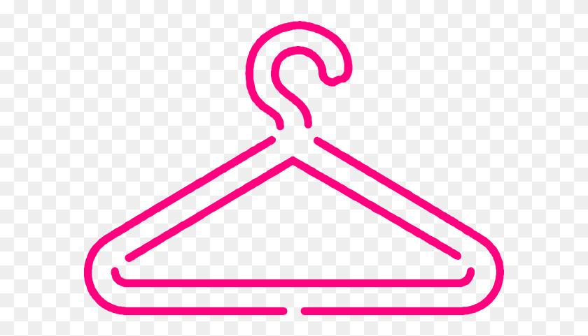 Pink Dress Hanger Clip Art - Pink Dress Clipart