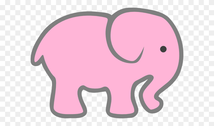 Pink Elephant Clip Art - Pink Baby Clipart