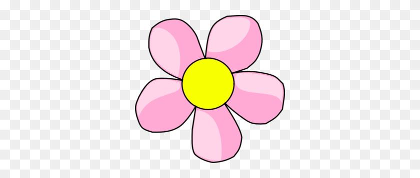 300x297 Pink Flower Clip Art - Pink Flower Clipart