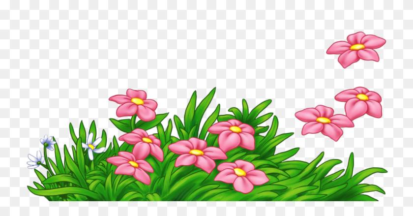 1740x846 Pink Flower Clip Art Border - Pink Flower Clipart