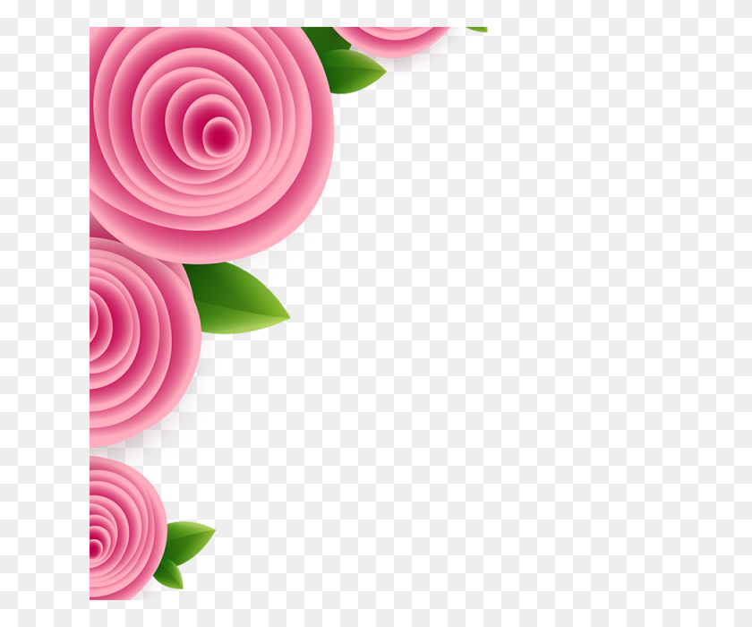 Pink Flower Frame, Pink, Green, Frame Png And For Free - Pink Flower Crown PNG