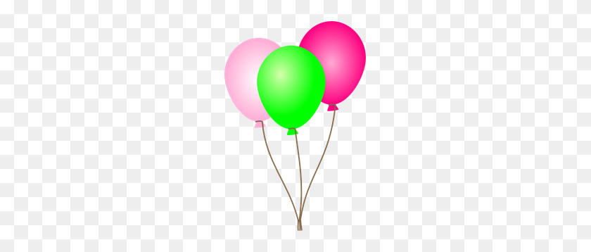 Pink Green Balloons Png Clip Arts For Web - Pink Balloons PNG