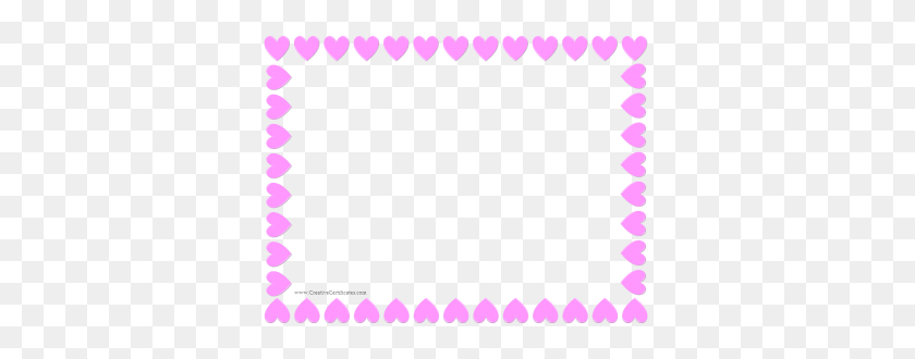 Pink Heart Border Nikylah Smith Certificate - Certificate Border PNG