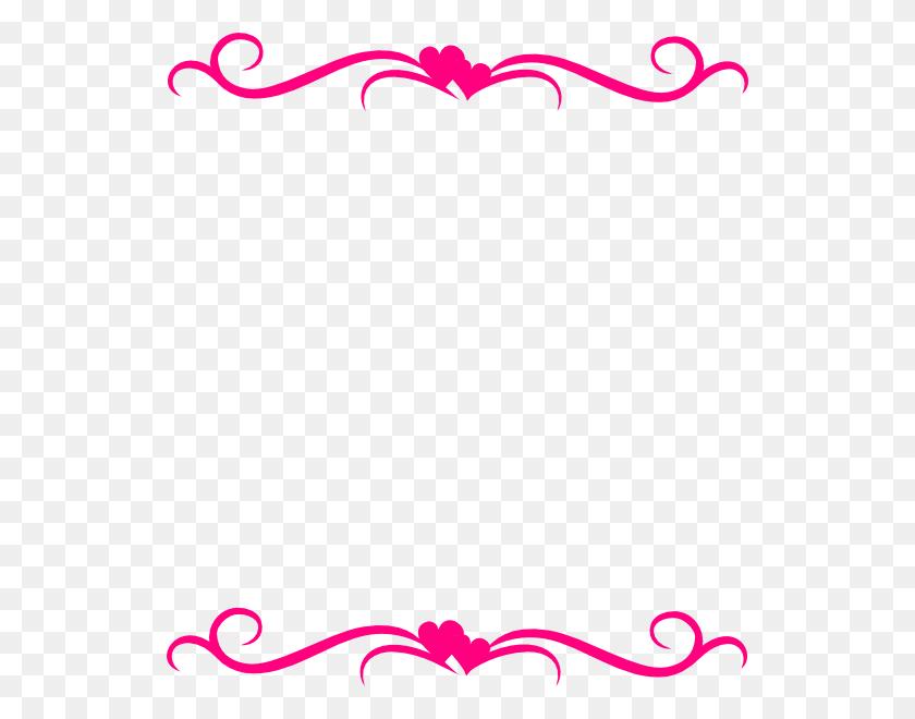 Pink Hearts Top Bottom Border Png Clip Arts For Web - Modern Border PNG