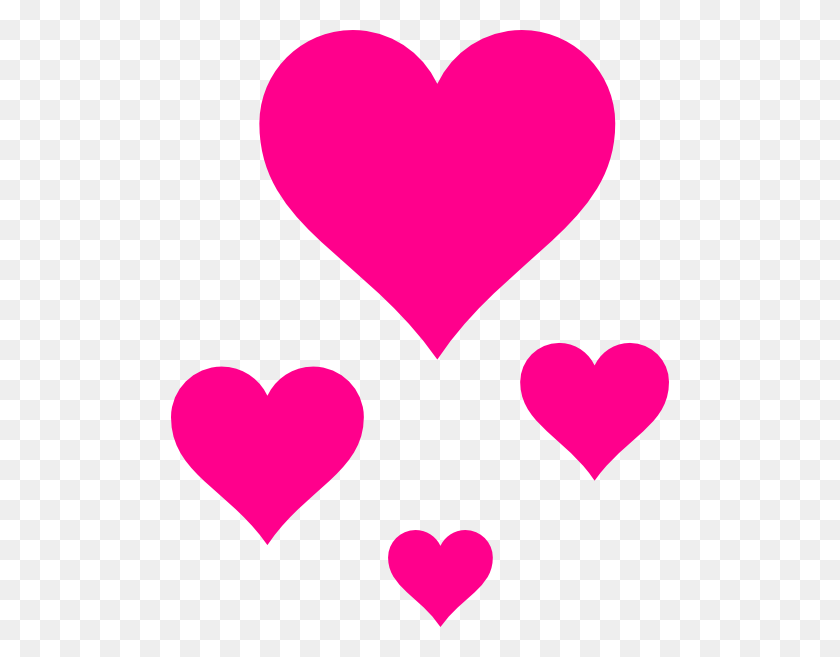 Pink Herats - Photobooth Hearts PNG