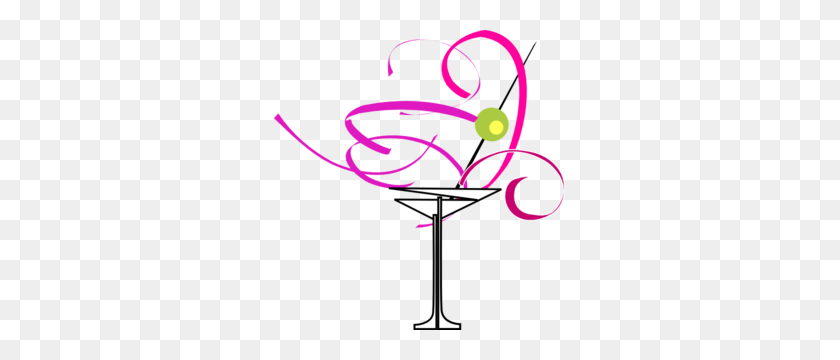 Pink Margarita Glass Clip Art - Margarita Clipart PNG