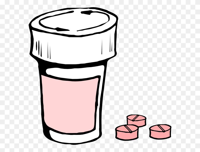 Pink Medication Clip Art - Medication Clipart