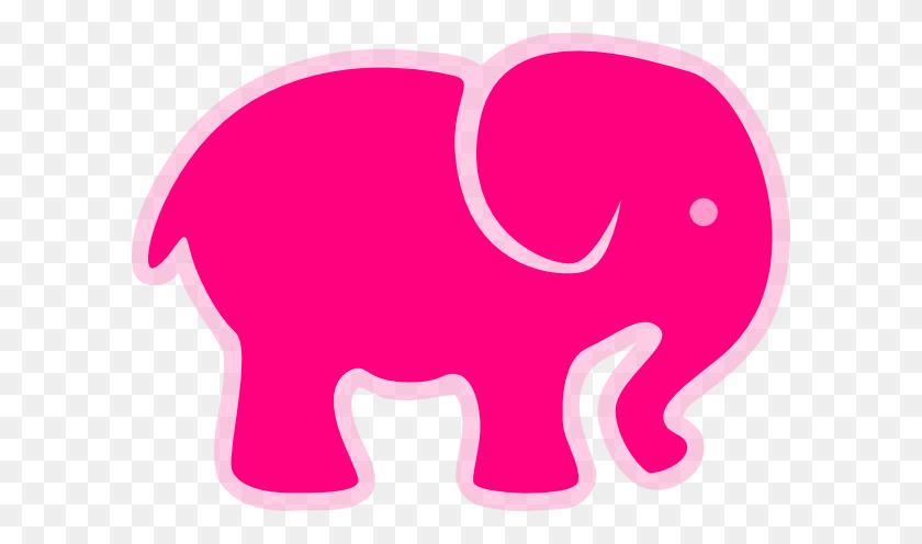 Pink On Pink Elephant Clip Art - Pink Elephant Clipart