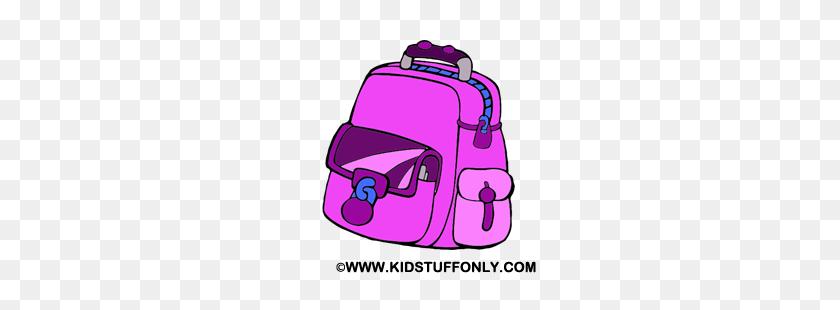 Pink School Bag Free Clip Art - School Bag Clipart