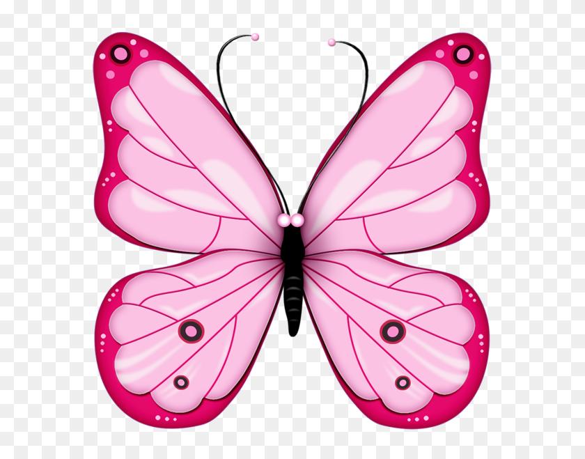 Pink Transparent Butterfly Clipart Cliparts - Paper Clipart Transparent