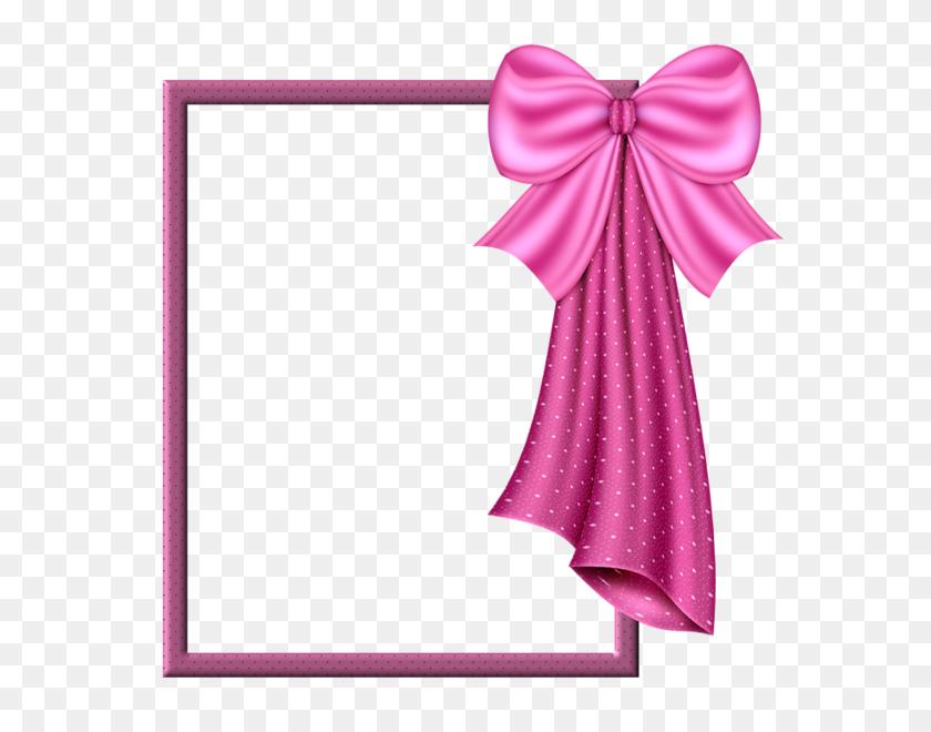 Pink Transparent Frame With Big Pink Bow Frame - Pink Bow Clipart Transparent