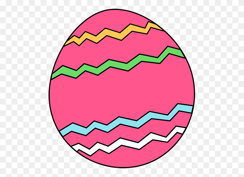 Pink Zig Zag Easter Egg Clip Art Pink Zig Zag Easter Egg Image - Pink Border Clipart