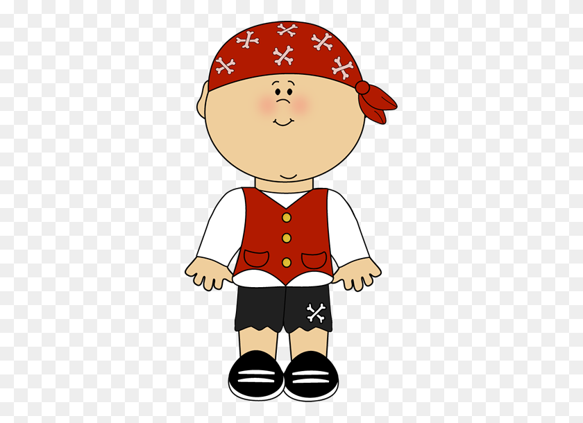 Pirate Boy Clip Art Image Little Pirate Boy In Pirate Clothing - Pirate Flag Clipart