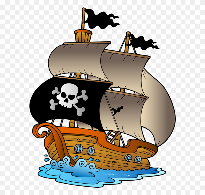 Pirate Ship Piratas Pirate Ships, Ships And Clip Art - Pirate Boat Clipart