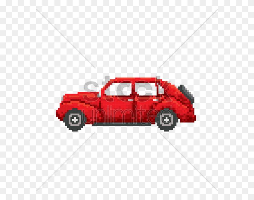 Pixel Art Vintage Car Vector Image - Vintage Car PNG