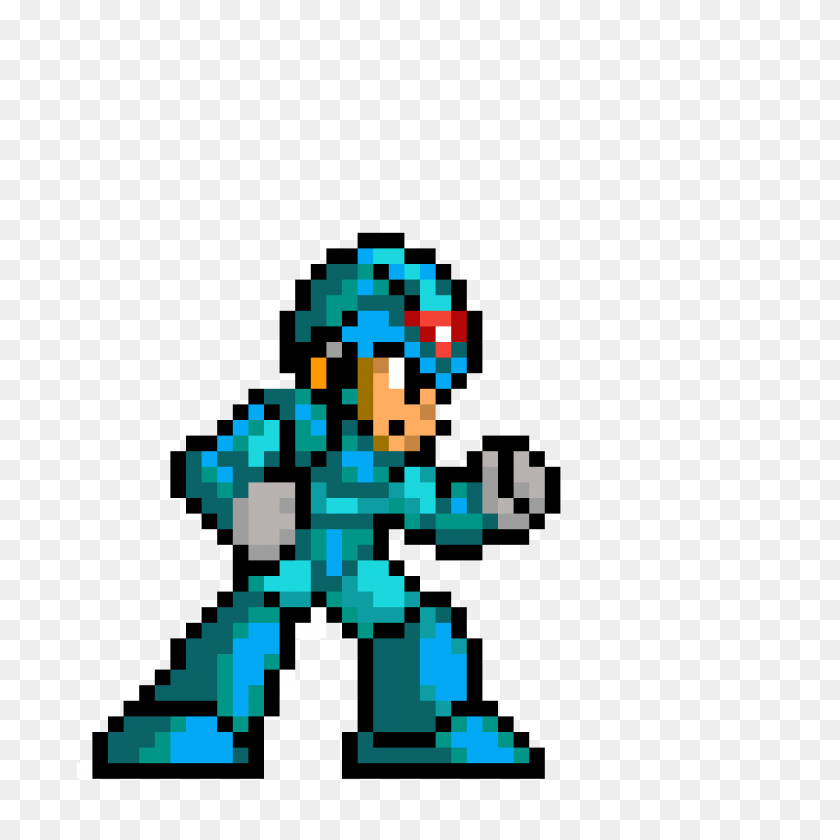 1200x1200 Pixilart - Megaman Sprite PNG