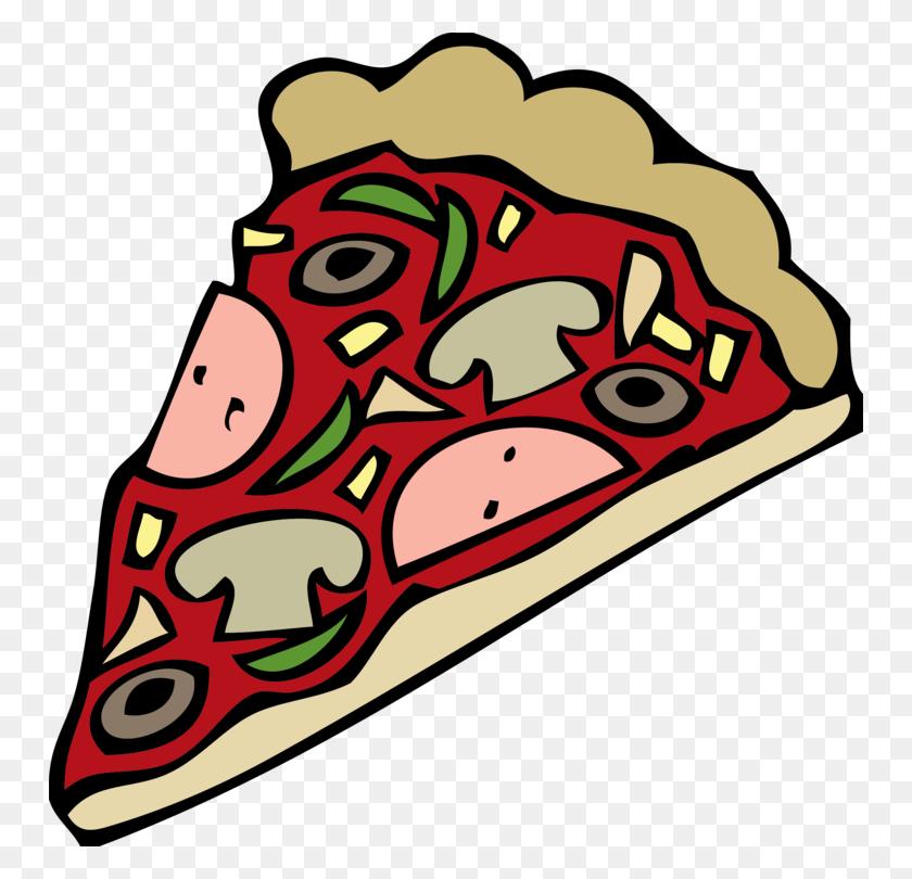Pizza Vegetarian Cuisine Italian Cuisine Cartoon Pepperoni Free - Snack Bar Clipart