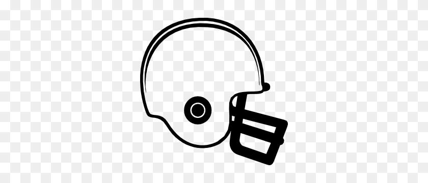Plain Football Helmet Sticker - Football Helmet Clipart Black And White