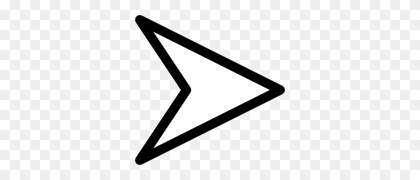 300x300 Plain Right White Arrow Clip Art - Arrow Clipart Transparent Background