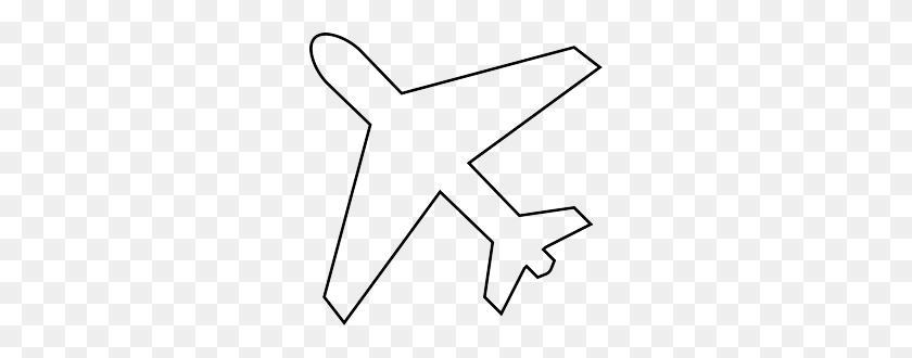Plane Clipart Outline - Plane Clipart Black And White