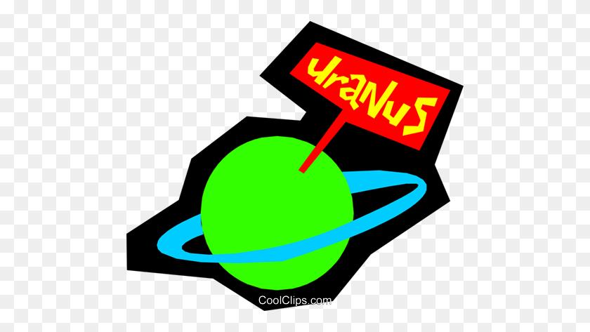 Planet Uranus Royalty Free Vector Clip Art Illustration - Uranus Clipart