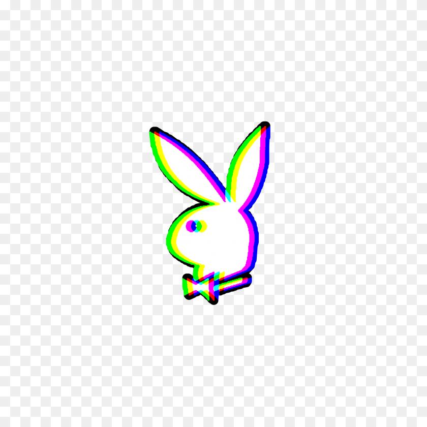 Playboybunny Bunny Glitch Ftestickers - Playboy Bunny Clipart