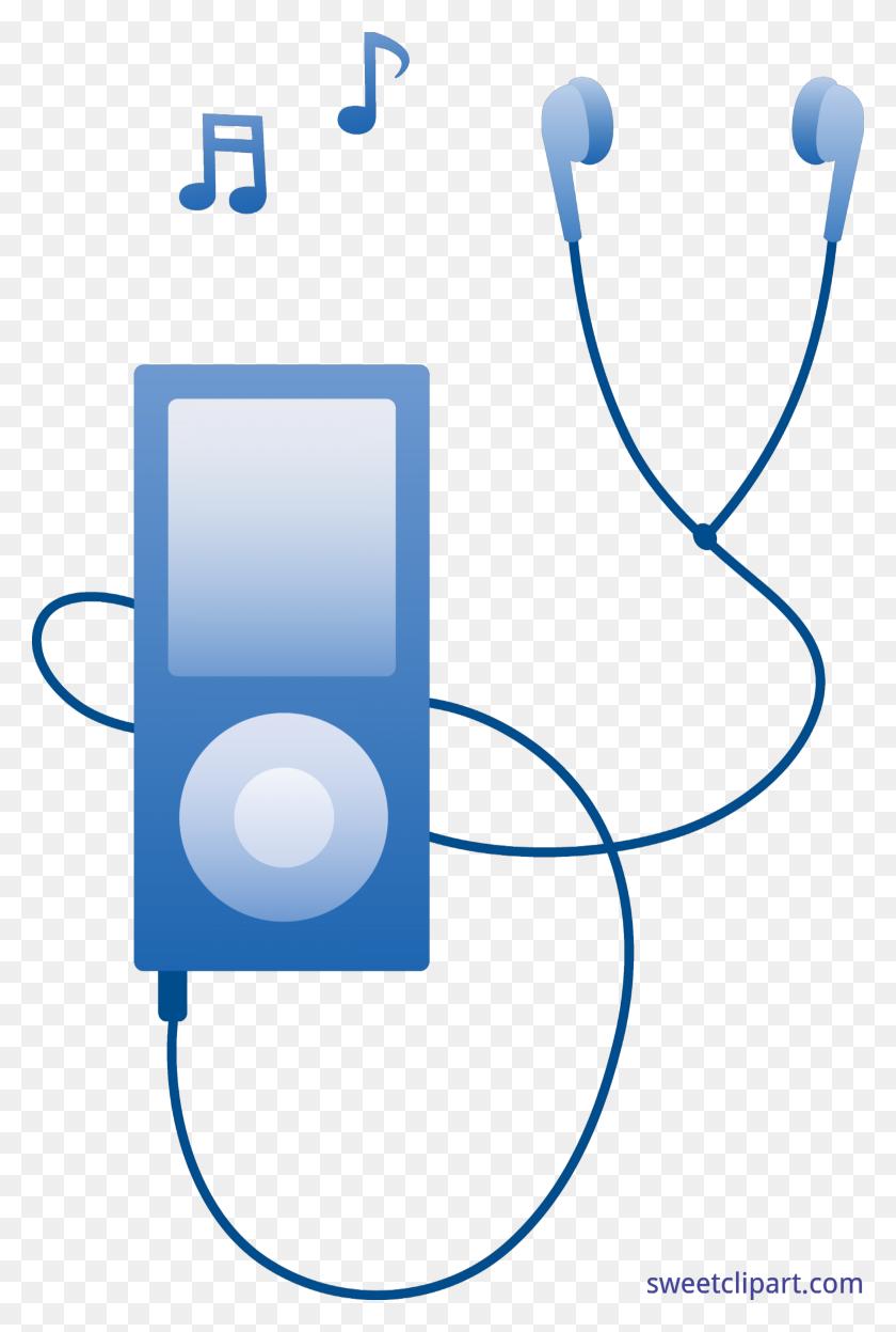 5200x7919 Player Blue Clip Art - Mp3 Player Clipart