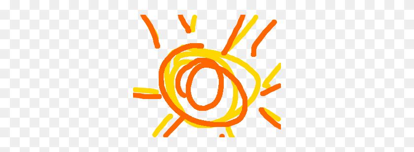 Playing Rugrats Kickball On The Sun Drawing - Sun Drawing PNG