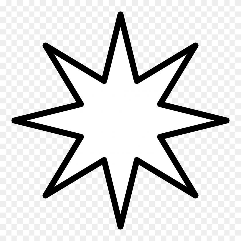 Point Star Black - Black Stars PNG