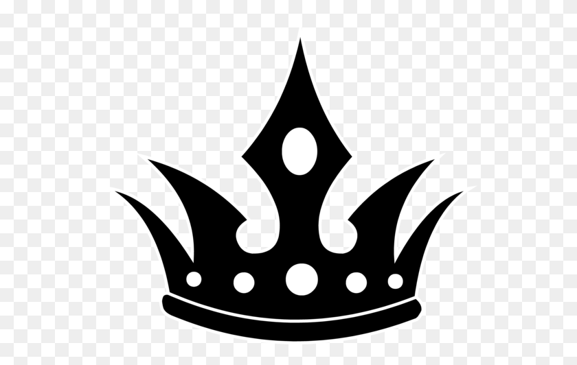 Pointed Black Crown Silhouette - Crown Silhouette Clip Art