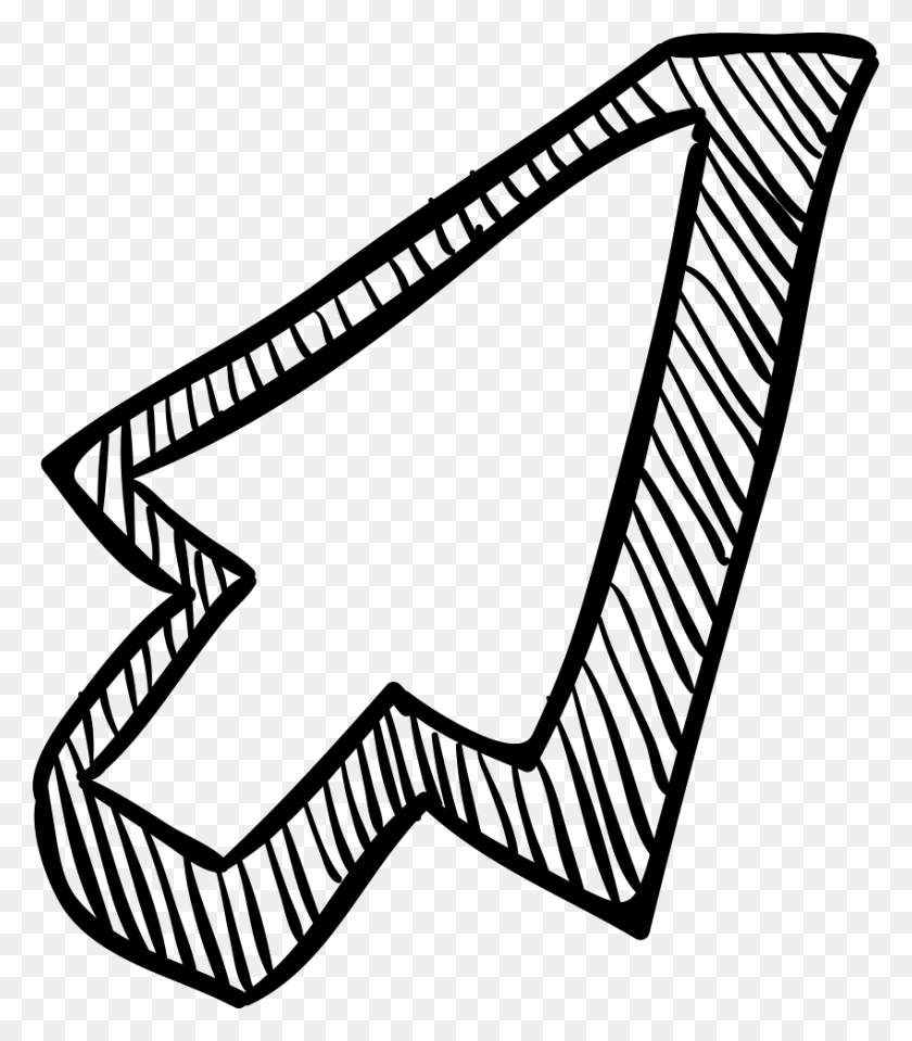 Pointer Arrow Sketch Png Icon Free Download - Sketch PNG