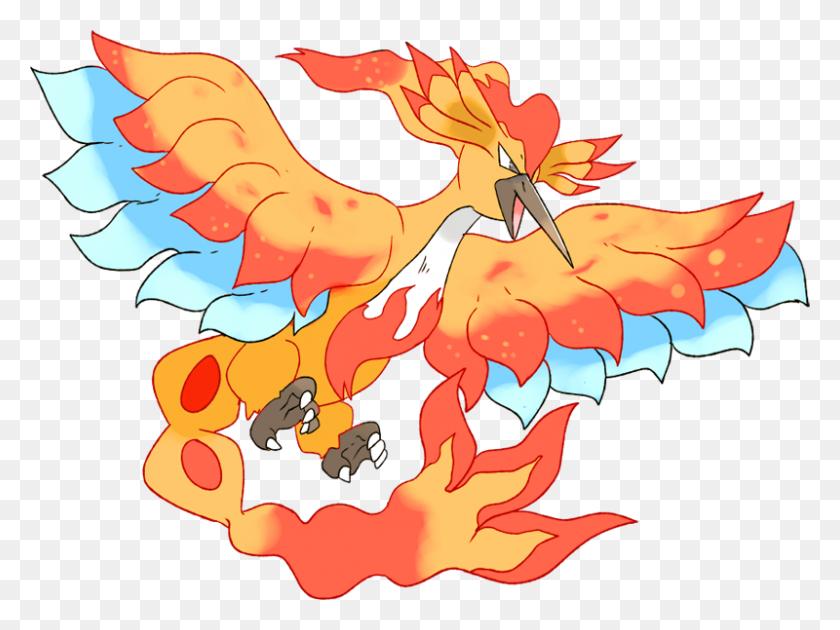 Pokemon Shiny Mega Moltres Pokedex Evolution, Moves - Moltres PNG