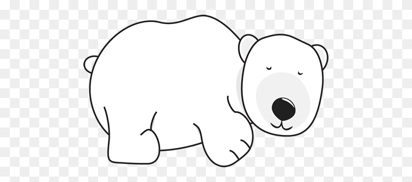 Polar Bear Clipart Reading Book - Reading Book Clip Art