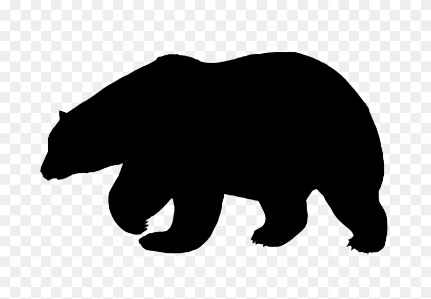 Polar Bear Polar Bears Bear Silhouette, Bear - Polar Bear Black And White Clipart