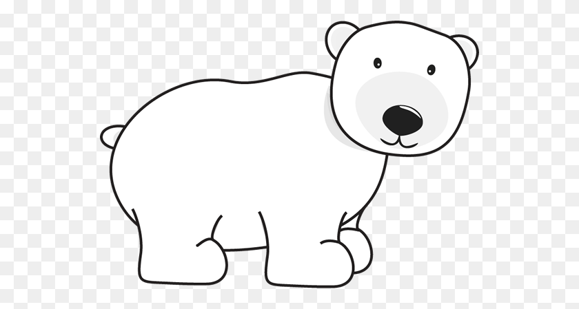 Polar Bear Winter Clipart Kid - Winter Animals Clipart