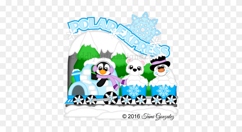 Polar Express Cuddly Cute Designs Paper - Polar Express Clip Art