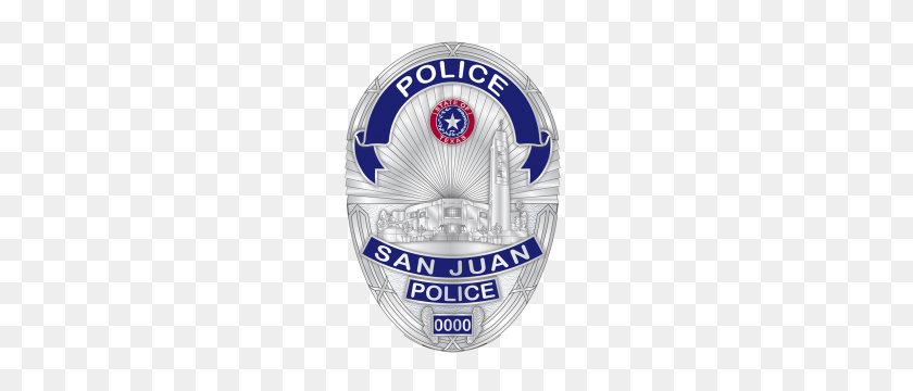 Police Badge San Juan Police - Police Badge PNG