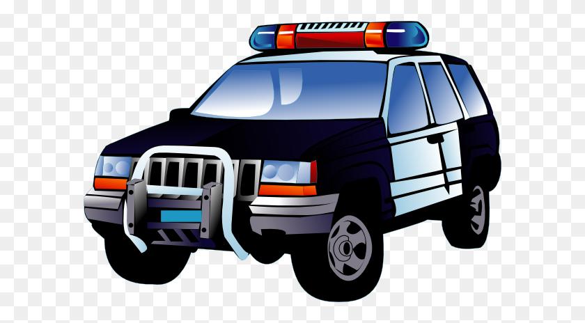 600x404 Police Car Clip Art - Moving Van Clipart