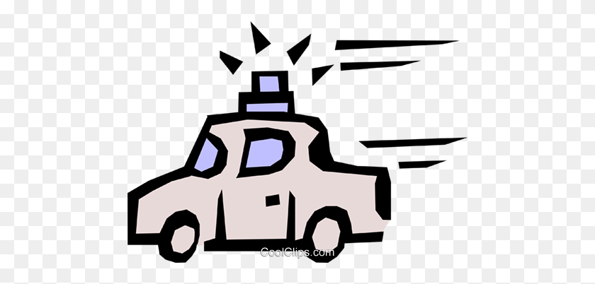 480x342 Police Car Royalty Free Vector Clip Art Illustration - Police Car Clipart