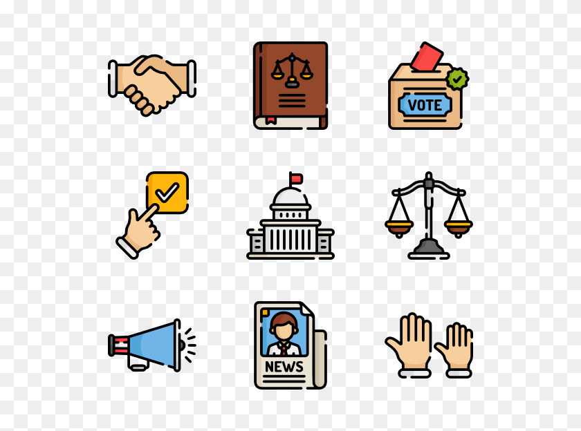 Political Icon Packs - Politics PNG