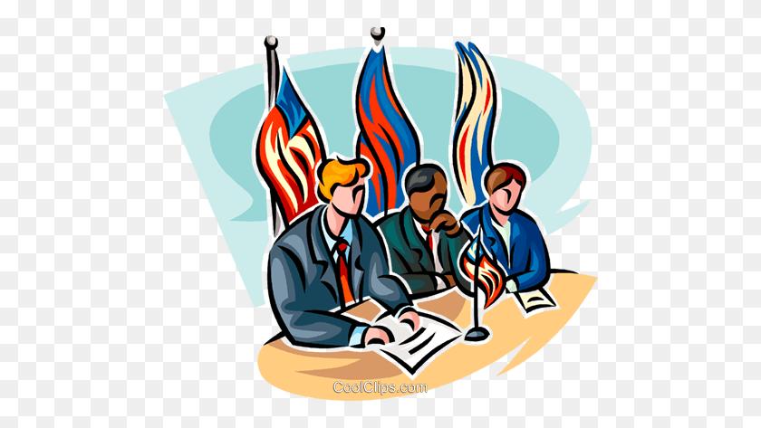 Political Process Royalty Free Vector Clip Art Illustration - Process Clipart