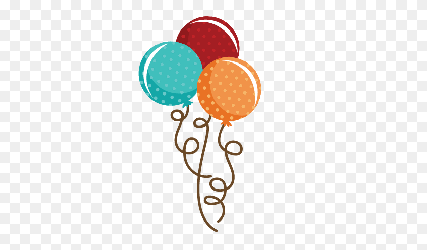 Polka Dot Balloon Bouquet Balloon Cute Balloons - Balloon Bouquet Clipart