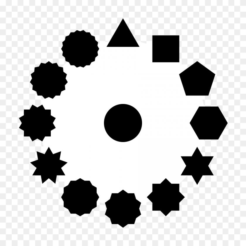 Polygons Stars And The Circle Clip Arts Download - Black Stars PNG