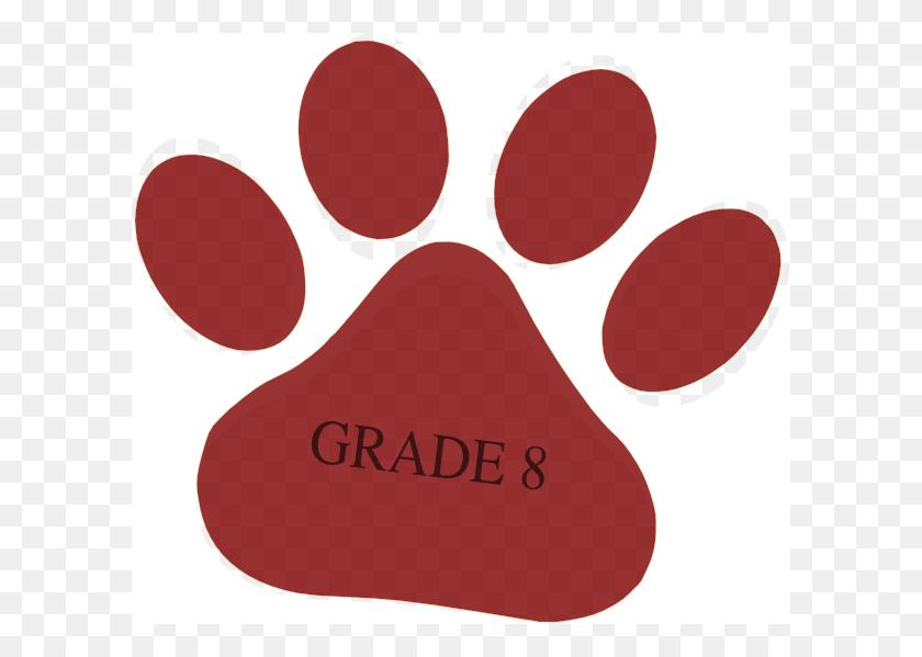 Pomegranate Paw Dark Grey Grade Text - Pomegranate Clipart