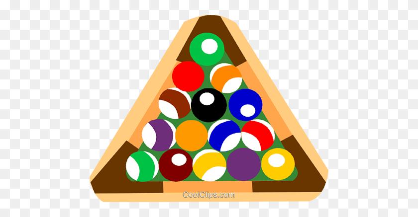 Pool Balls Royalty Free Vector Clip Art Illustration - Pool Balls Clipart