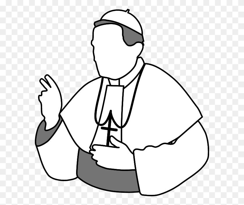 Pope Catholic Church Clip Art - Church Clipart Black And White