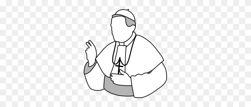 279x299 Pope Clip Art - Sacrament Clipart