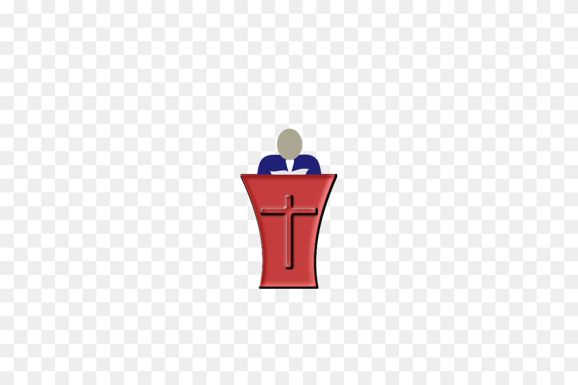 Pope Standing On A Church Pedestal Vector Illustration Public - Pope Clipart