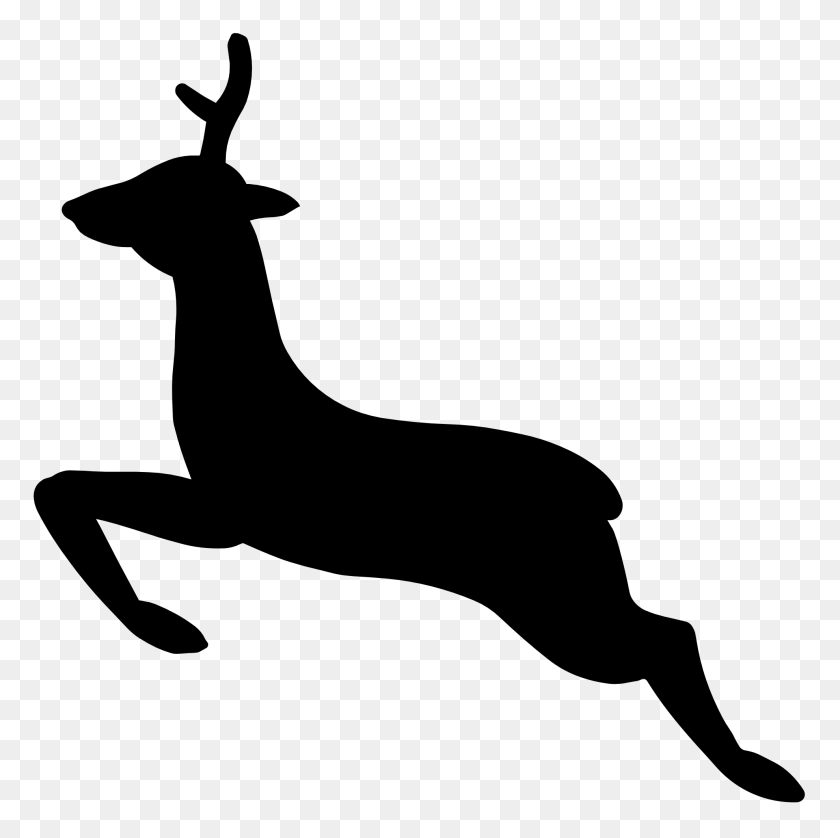 Popular Items For Deers Clip Art On Etsy - Santa And Reindeer Clipart