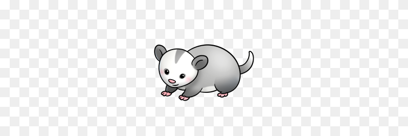 The Caution Possum Doesn't Quite Get It, But He's Trying - Mouse Clipart  (#3285098) - PikPng